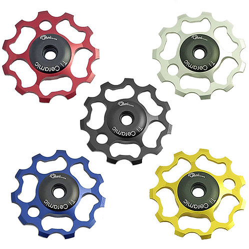 Ti Ceramic Derailleur Pulleys: Fit Shimano 9/10/11 & Sram 9/10 speed