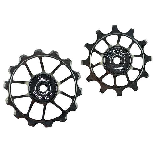 RACE-Lite OVERSIZE Ti Ceramic Derailleur for SRAM eTap AXS 12 Speed Pulley Set