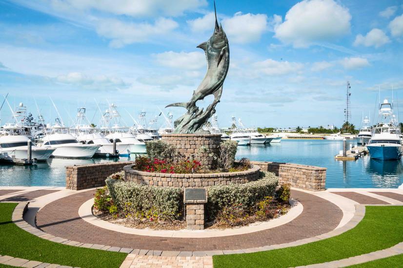 Chub Cay Marlin Statue