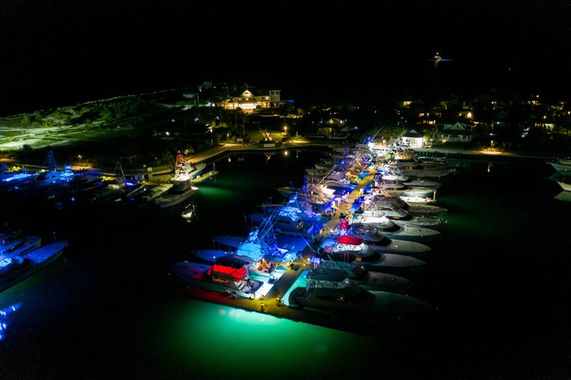 Chub Cay Marina at Night