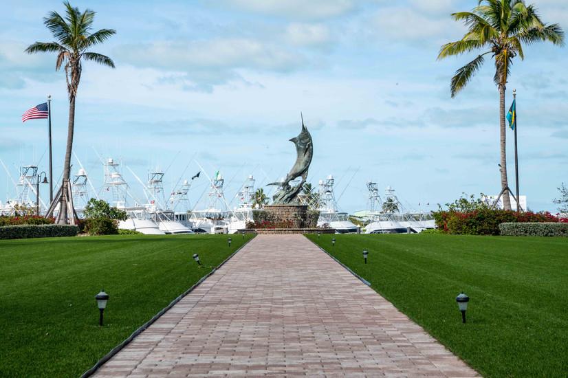 The Marlin Statue at Chub Cay Resort & Marina