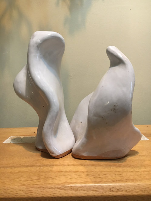 Organic Shaped Sculpture (White)
