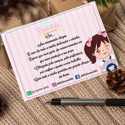 ARTE / Cartão de Agradecimento  por encomenda