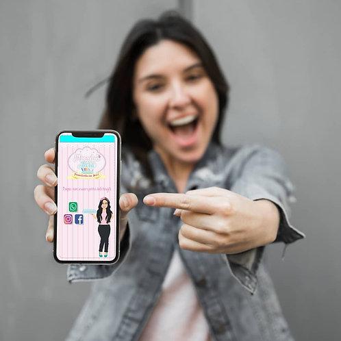 Cartão virtual interativo  por encomenda