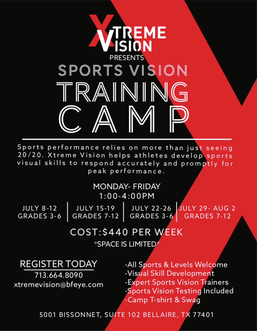Houston Summer Youth Sports Vision Camp