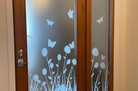 Custom Flower design for an Entryway Door