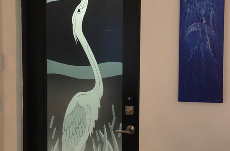 Heron Entryway Door design