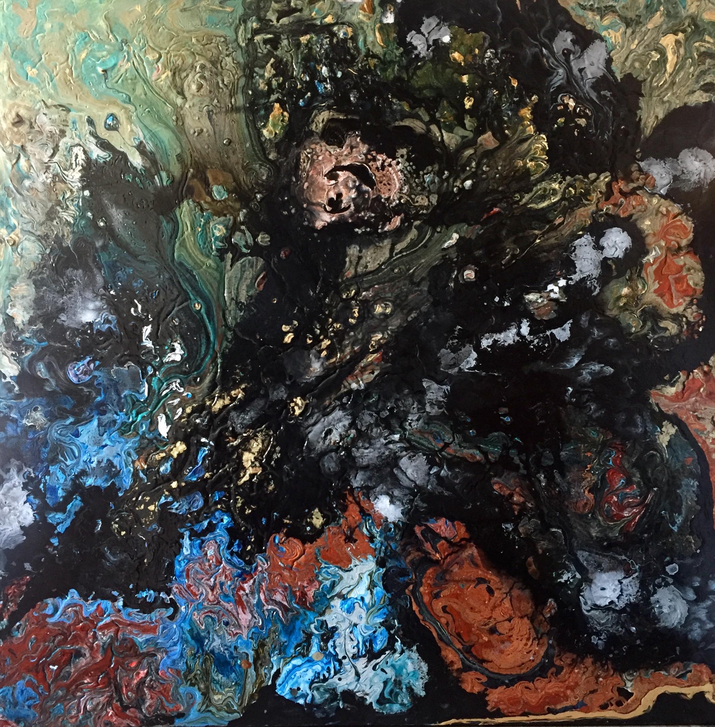 Olicorno ''Kids from Jupiter #7'', acryliques, 48''x48', 2375$