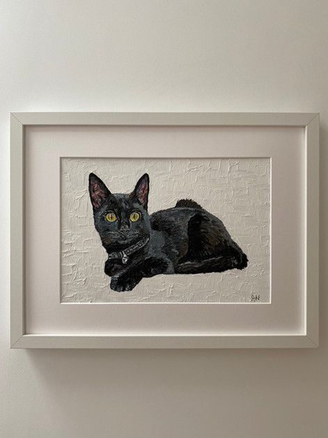"""Loony the kitten. Oil on canvas board 10x12"""""""