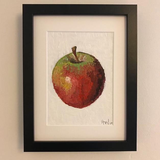 "Apple - oil on canvas board 5x7"""