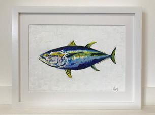 """Yellowfin Tuna. Oil 10x12"""""""