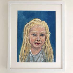 Portrait of Phillipa. Oil A3