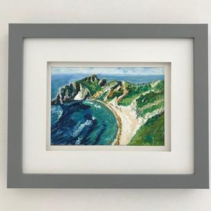 """Dorset coast. Oil 5x7"""""""