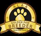 Bolingo Labradoodles ALAA Golden Paw Log