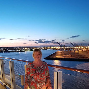 Owner of Adventures of a Lifetime Travel and Cruise, Suzanne Stemper, on a cruise ship.