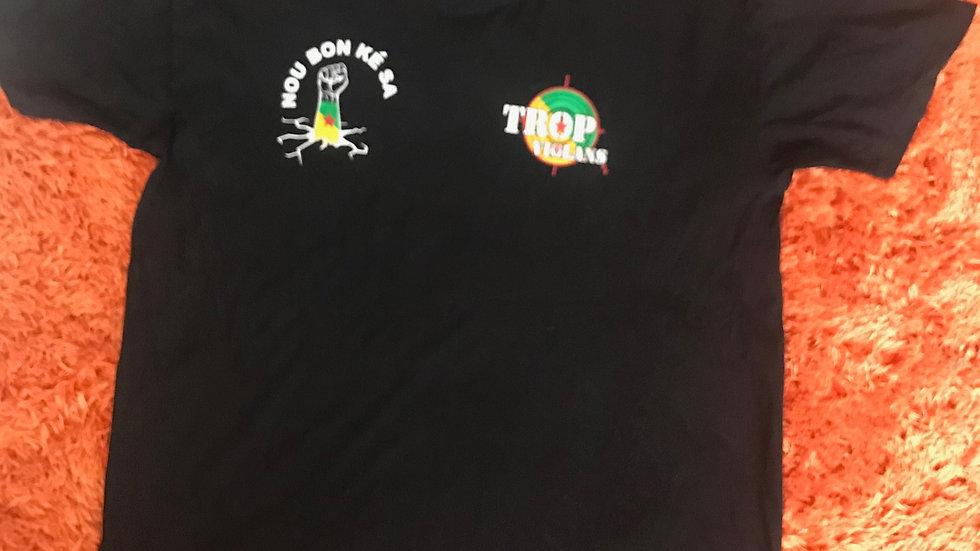 Tee-shirt Tròp Violans