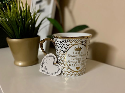 Gold Coffee Mug Strong Women