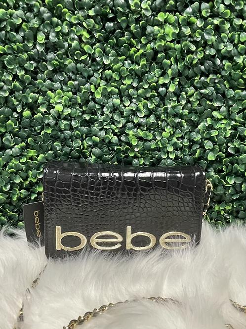 BEBE black clutch purse