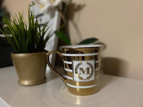 "Gold Coffee Mug ""M"""