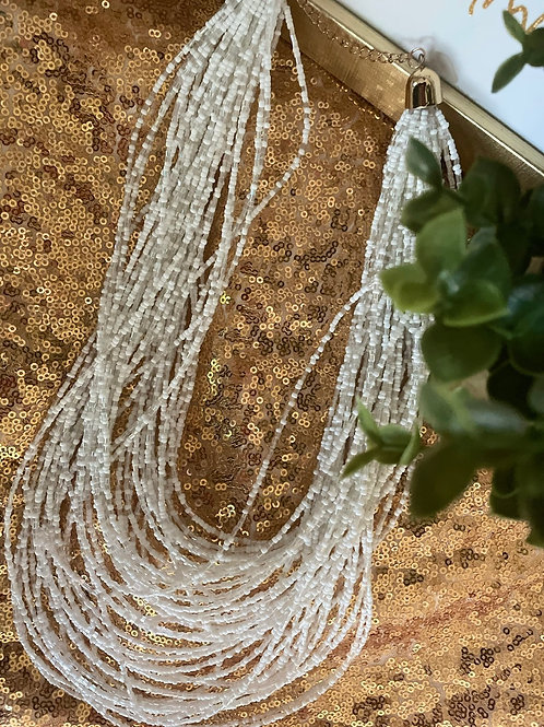 Beaded hanging necklace