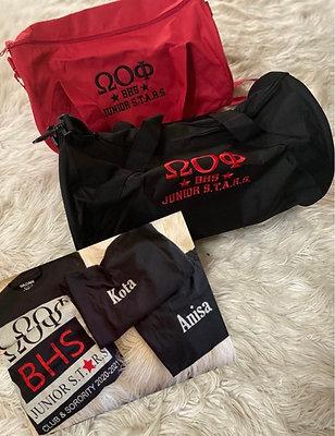 Stars gym bag & shirt combo