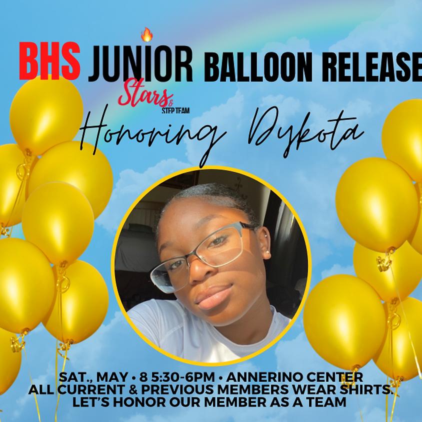 Balloon Release Honoring Dykota