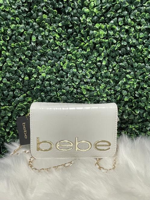 BEBE white clutch purse