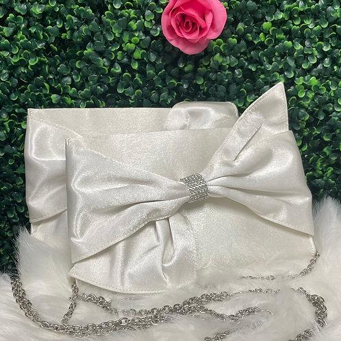 White clutch purse
