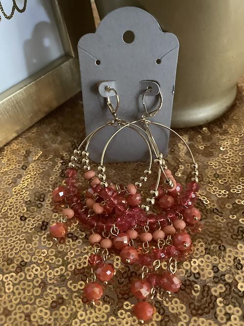 Summer Peach Hanging earrings