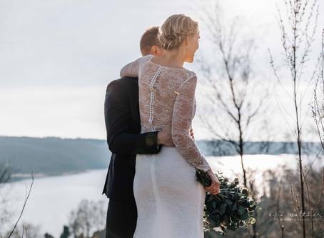 Et marts bryllup i den skønneste solskin (Bryllupsfotograf Eva Walther Horsens)