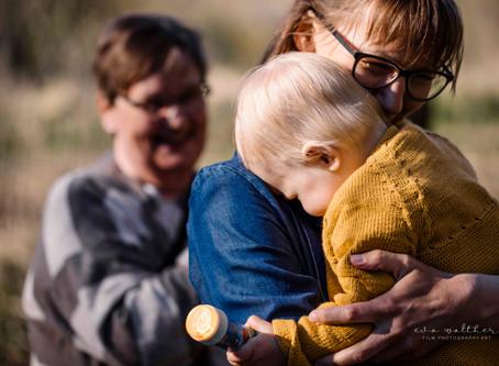 Familie session med Bedsteforældre (Livsstilsfotograf Eva Walther Horsens)