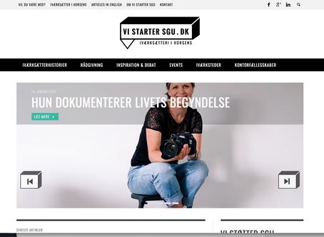 En fin artikel om min virken som fødselsfotograf (Eva Walther & vistartersgu.dk)