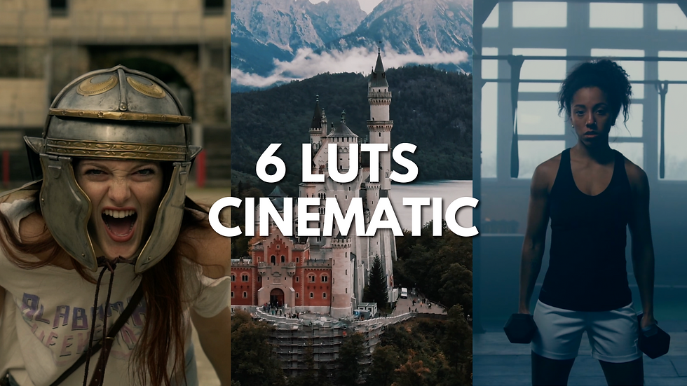 """PACK 6 LUTS """"CINEMATIC"""""""