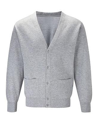 Upper School Grey Sweat Cardigan