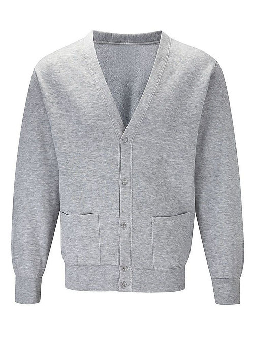 Upper School Grey Sweat Cardigan