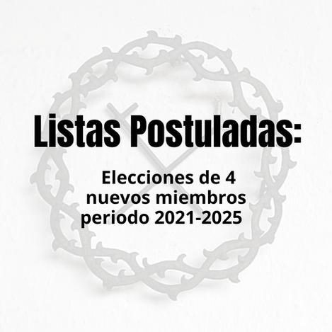 Listas postuladas candidaturas para la elección de cuatro nuevos miembros