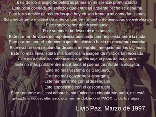 Oración del Carguero Viejo