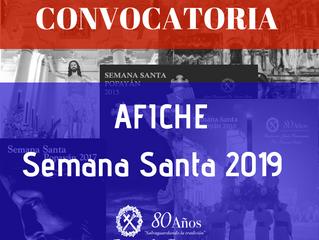 Convocatoria afiche promocional Semana Santa 2019
