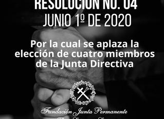 RESOLUCIÓN No. 04 Junio 1º de 2020