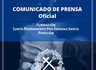 COMUNICADO DE PRENSA - Semana Santa 2020 No. 2