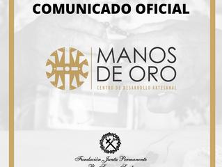 COMUNICADO OFICIAL: Exposición Artesanal Manos de Oro