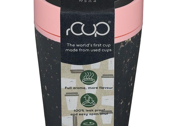 8oz rCUP Reusable Coffee Cup and Travel Mug Black/Pink