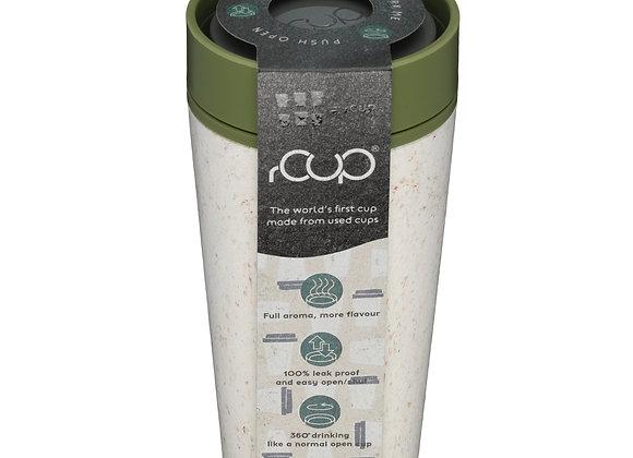 12oz rCUP Reusable Coffee Cup and Travel Mug Green/Cream