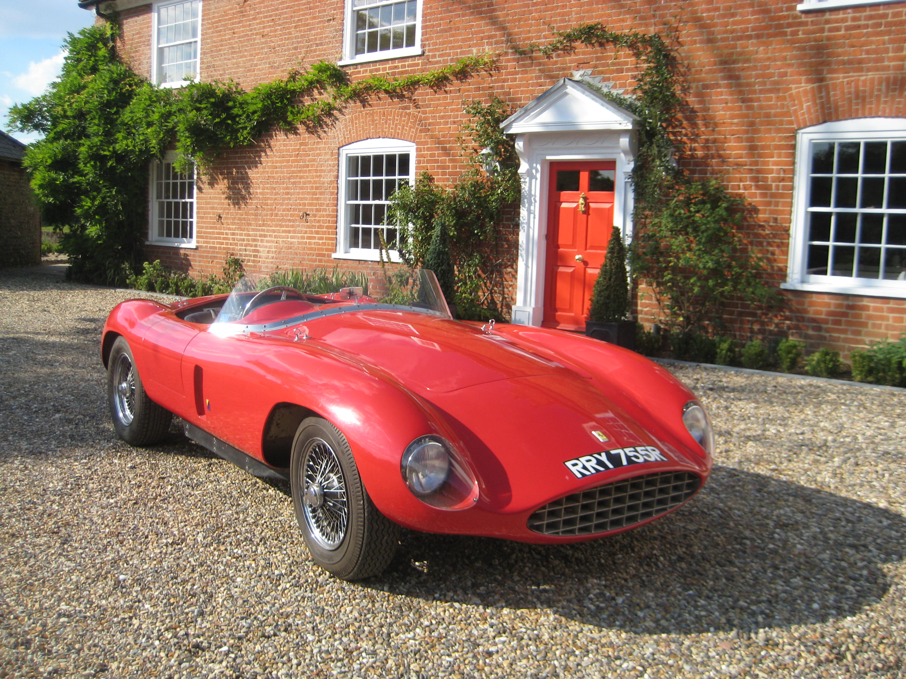 Classic car at Kersey Mill
