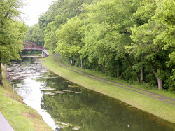 Canal & towpath from Riverrun lounge