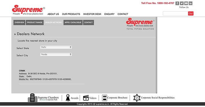 Supreme pipe suppliers noida