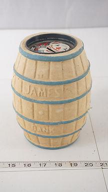 Advertising James Salt Water Taffy Barrel Bank