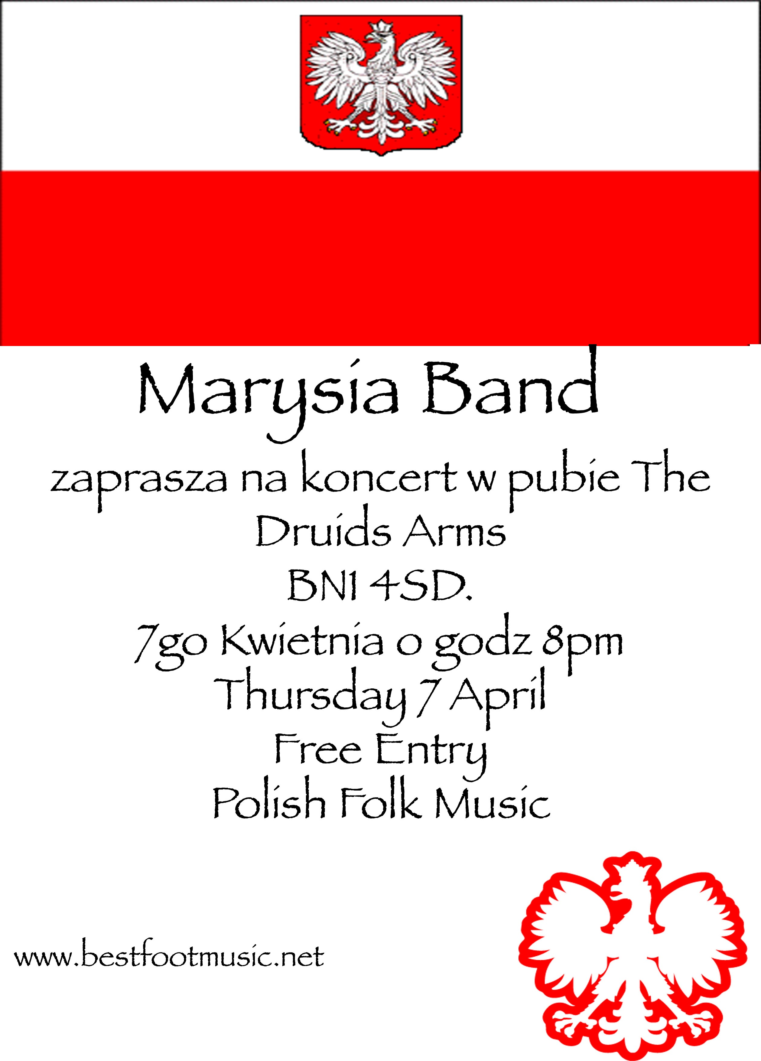 Marysia Band, Druids Head, Brighton