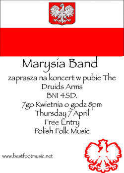 Marysia Band, Druids Head, Brighton