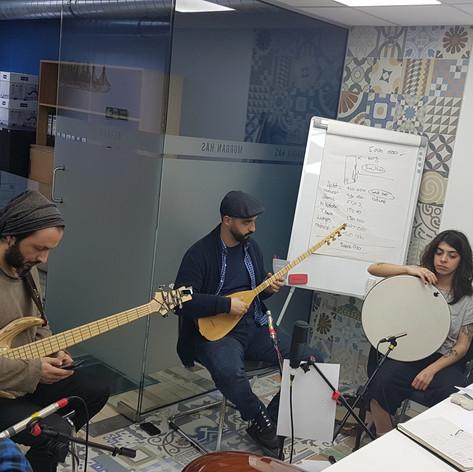Suna Alan recording session